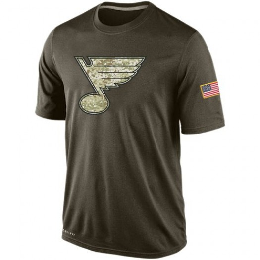 St. Louis Blues Men's Nike Olive Salute To Service KO Performance Dri-FIT T-Shirt