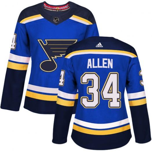 Jake Allen St. Louis Blues Women's Adidas Premier Royal Blue Home Jersey