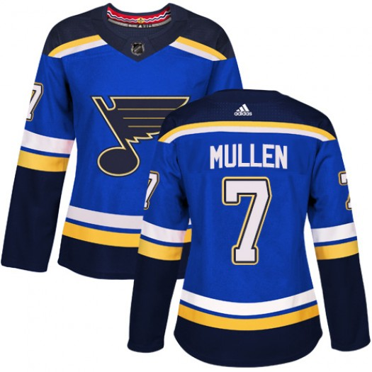 Joe Mullen St. Louis Blues Women's Adidas Authentic Royal Blue Home Jersey