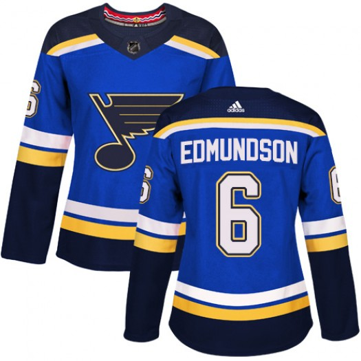 Joel Edmundson St. Louis Blues Women's Adidas Authentic Royal Blue Home Jersey