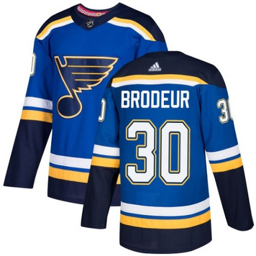 Martin Brodeur St. Louis Blues Youth Adidas Authentic Royal Blue Home Jersey