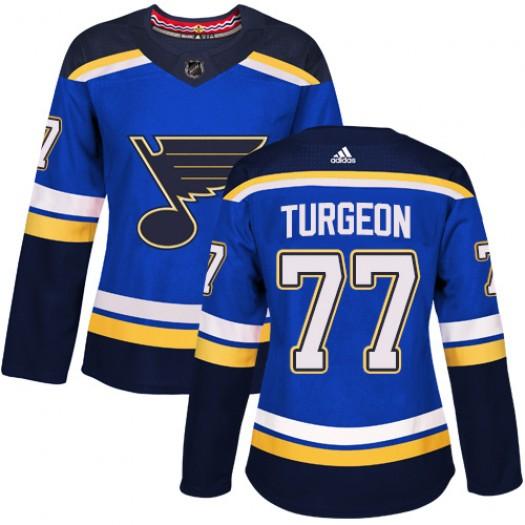 Pierre Turgeon St. Louis Blues Women's Adidas Authentic Royal Blue Home Jersey