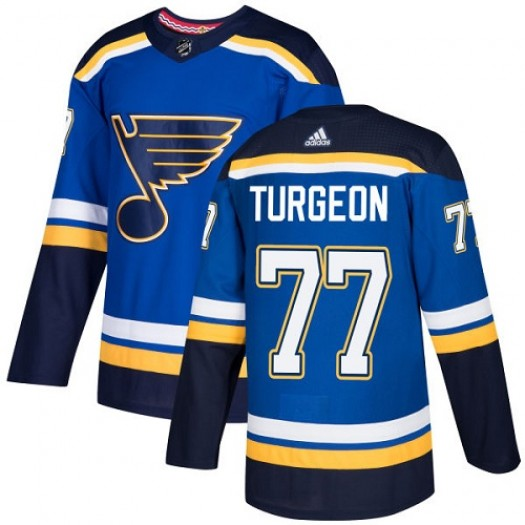 Pierre Turgeon St. Louis Blues Youth Adidas Authentic Royal Blue Home Jersey