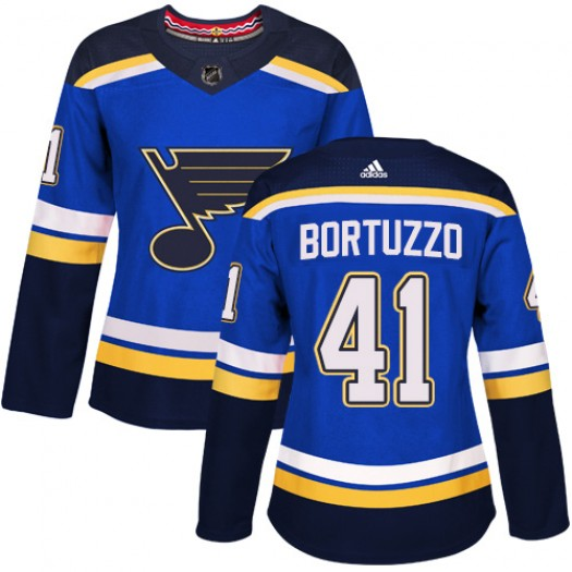 Robert Bortuzzo St. Louis Blues Women's Adidas Authentic Royal Blue Home Jersey