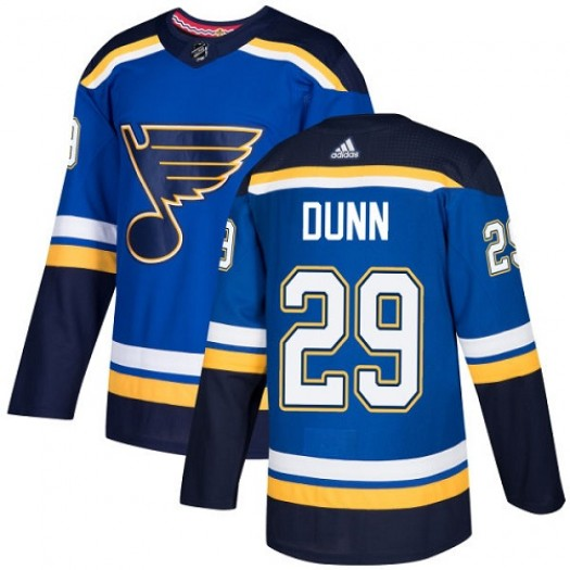 Vince Dunn St. Louis Blues Youth Adidas Authentic Royal Blue Home Jersey