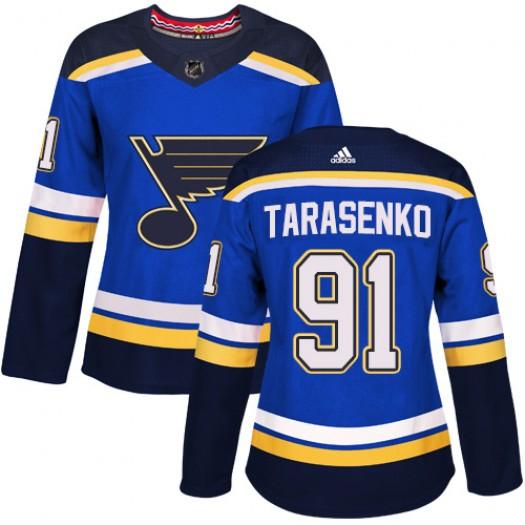 Vladimir Tarasenko St. Louis Blues Women's Adidas Authentic Royal Blue Home Jersey