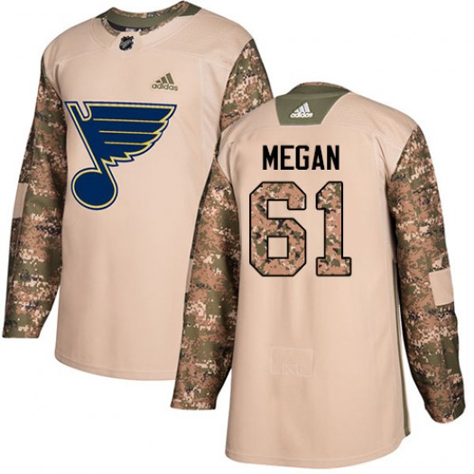 Wade Megan St. Louis Blues Youth Adidas Authentic Camo Veterans Day Practice Jersey