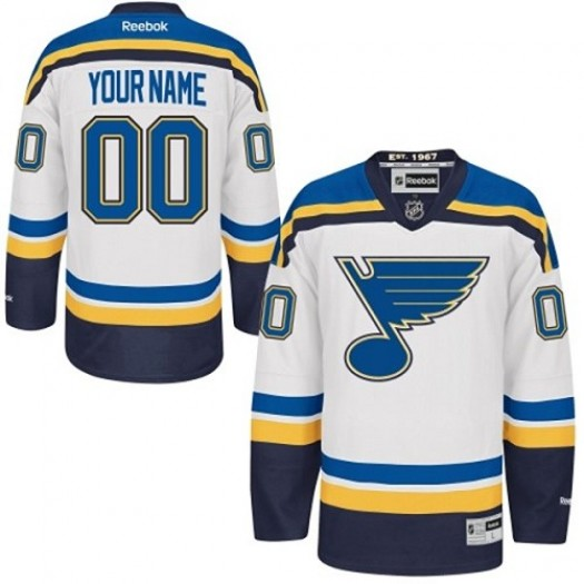 Youth Reebok St. Louis Blues Customized Authentic White Away Jersey