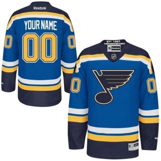 Youth Reebok St. Louis Blues Customized Premier Royal Blue Home Jersey