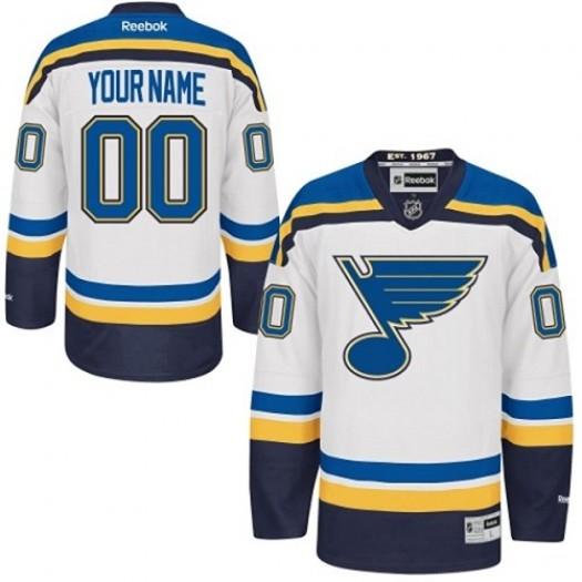Youth Reebok St. Louis Blues Customized Premier White Away Jersey